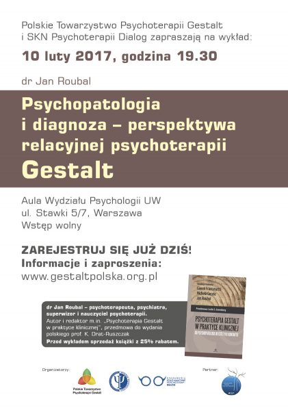 Psychopatologia i diagnoza – perspektywa relacyjnej psychoterapii Gestalt – wykład dr. Jana Roubala