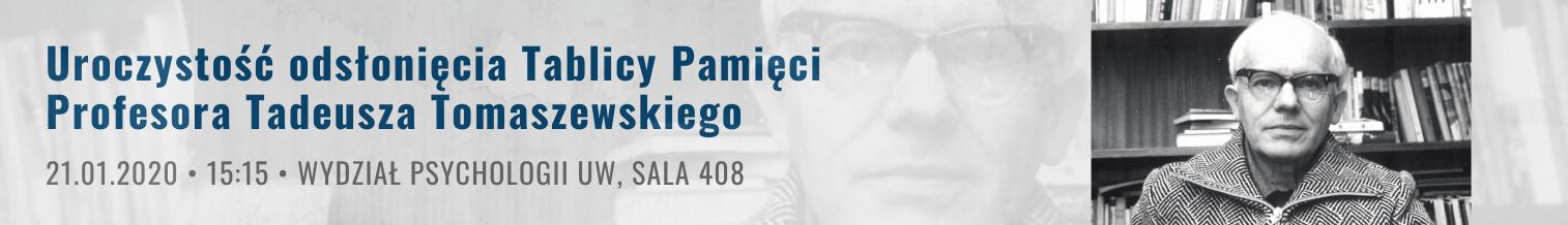 Uroczystość odsłonięcia Tablicy Pamięci Profesora Tadeusza Tomaszewskiego na Wydziale Psychologii UW