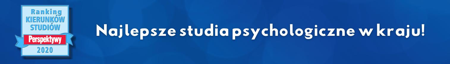 """I miejsce dla psychologii na UW w Rankingu """"Perspektywy 2020"""""""