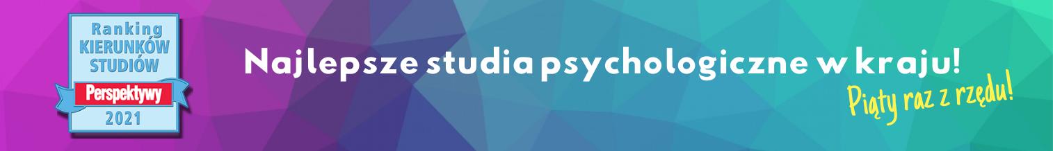 """I miejsce dla psychologii na UW w Rankingu """"Perspektywy 2021"""""""